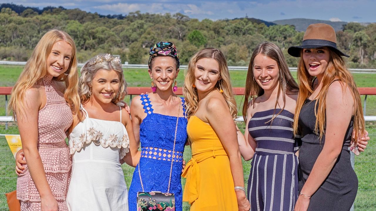 TIME TO FROCK UP: Race goers at the Stanthorpe races in 2018.