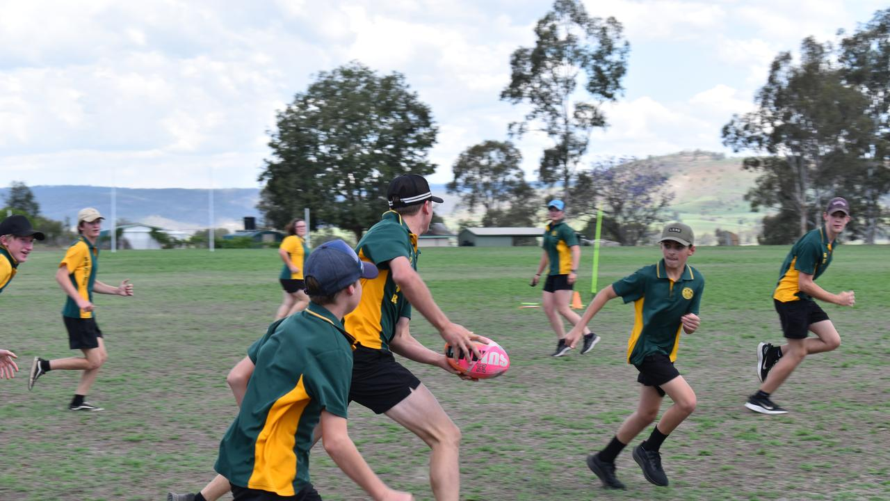 Burnett College students getting active with their own State of Origin series.​
