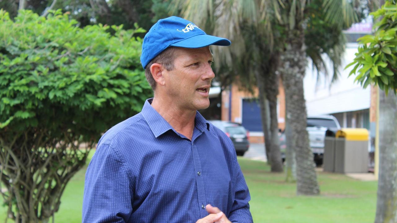 Incumbent Bundaberg MP David Batt on the campaign trail before the election.
