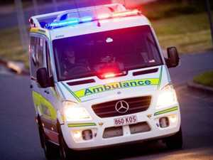 Vehicle crashes on highway at Mount Larcom