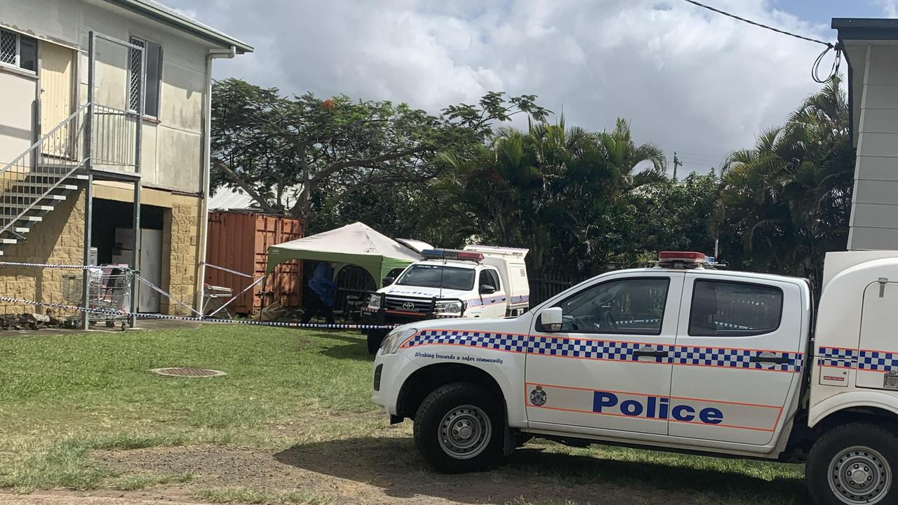 The crime scene at John St Maryborough, where an alleged altercation took place that allegedly led to the death of a man in Gympie. Photo: Carlie Walker