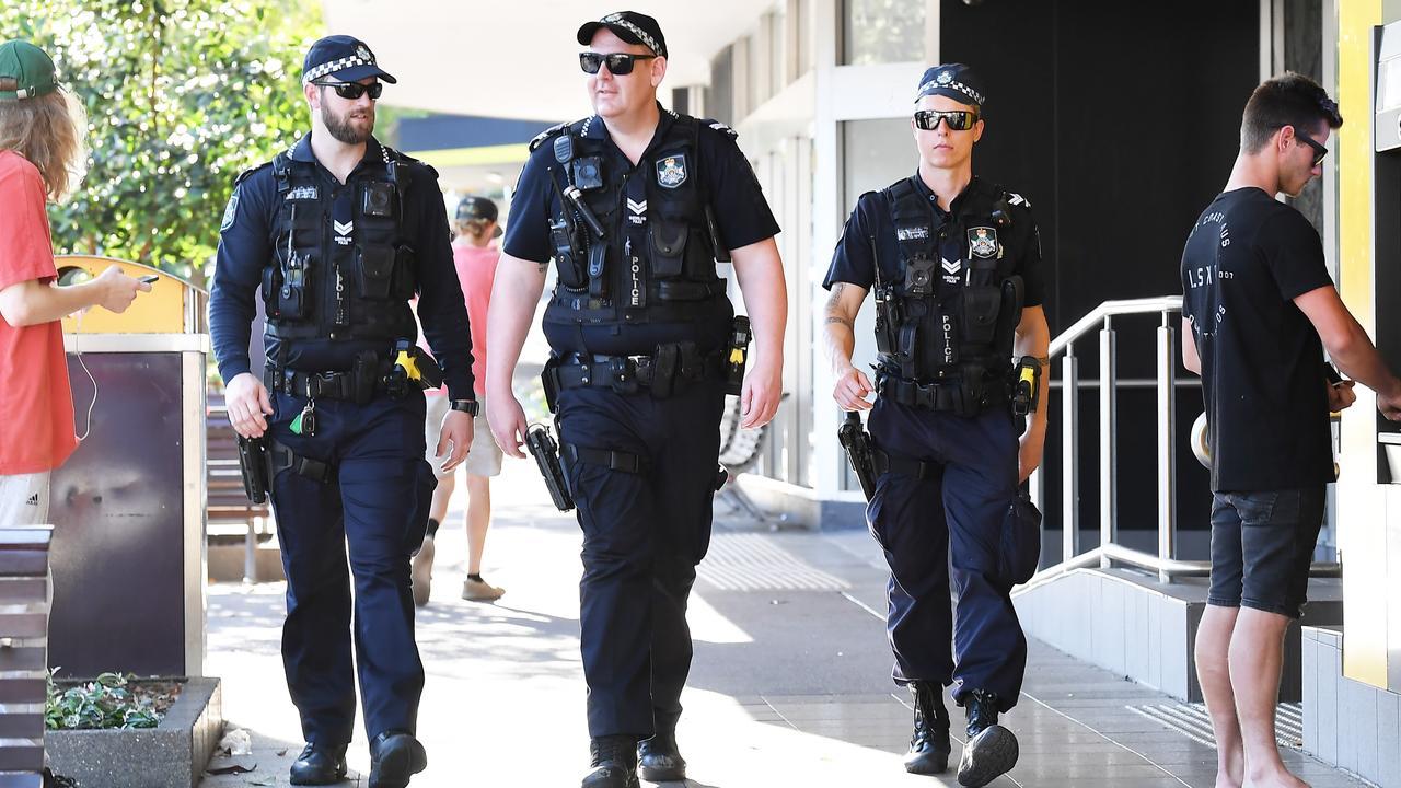 Police on patrol at Lowe St, Nambour. Photo: Patrick Woods / Sunshine Coast Daily.