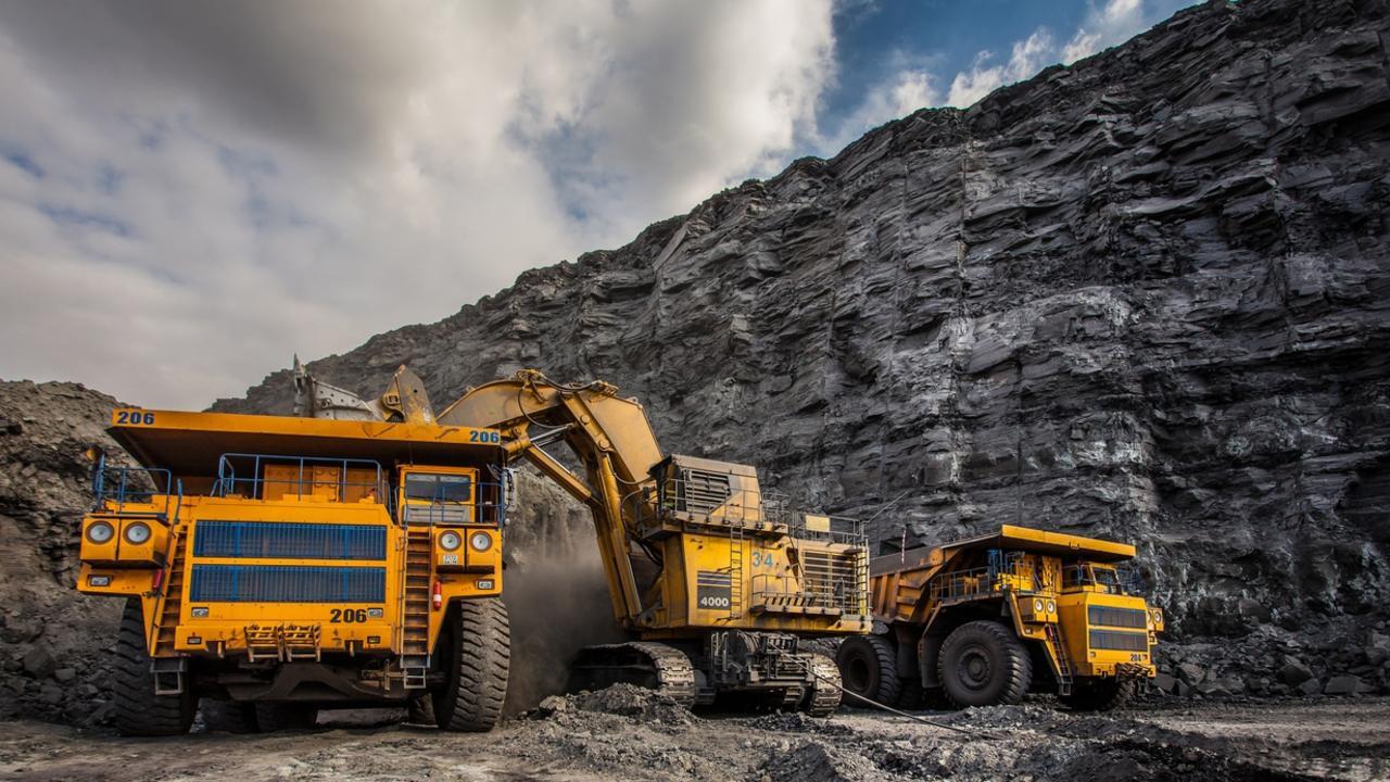 Coal mining vehicles.