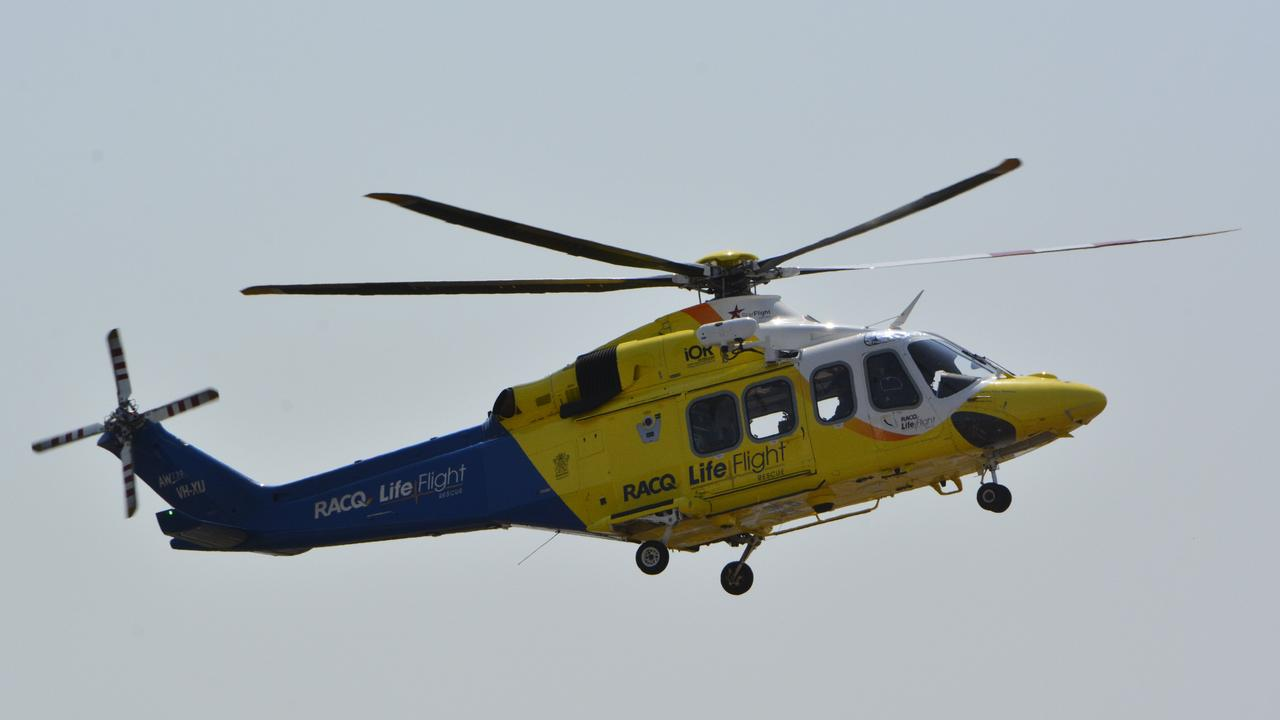 A rescue helicopter has been called to Cooroy.