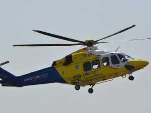 Man flown to hospital in serious condition after smash