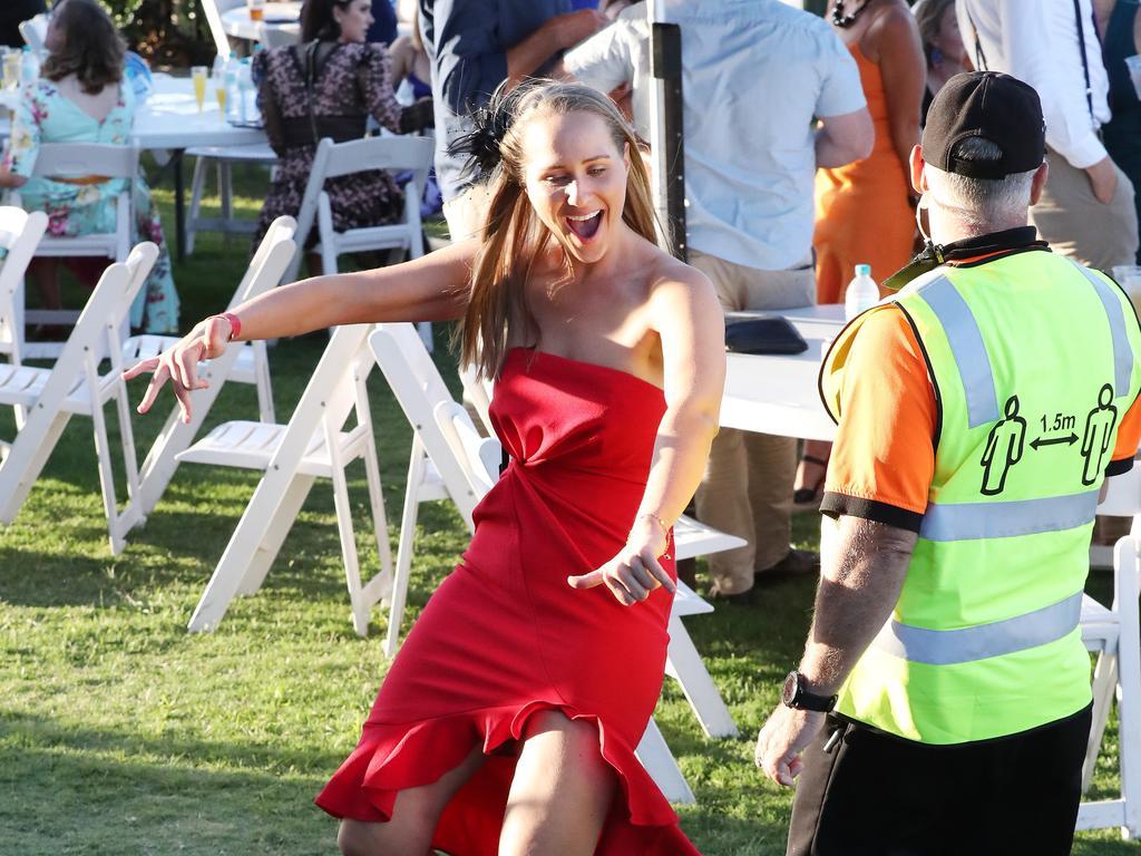 A makeshift dance floor in Brisbane.