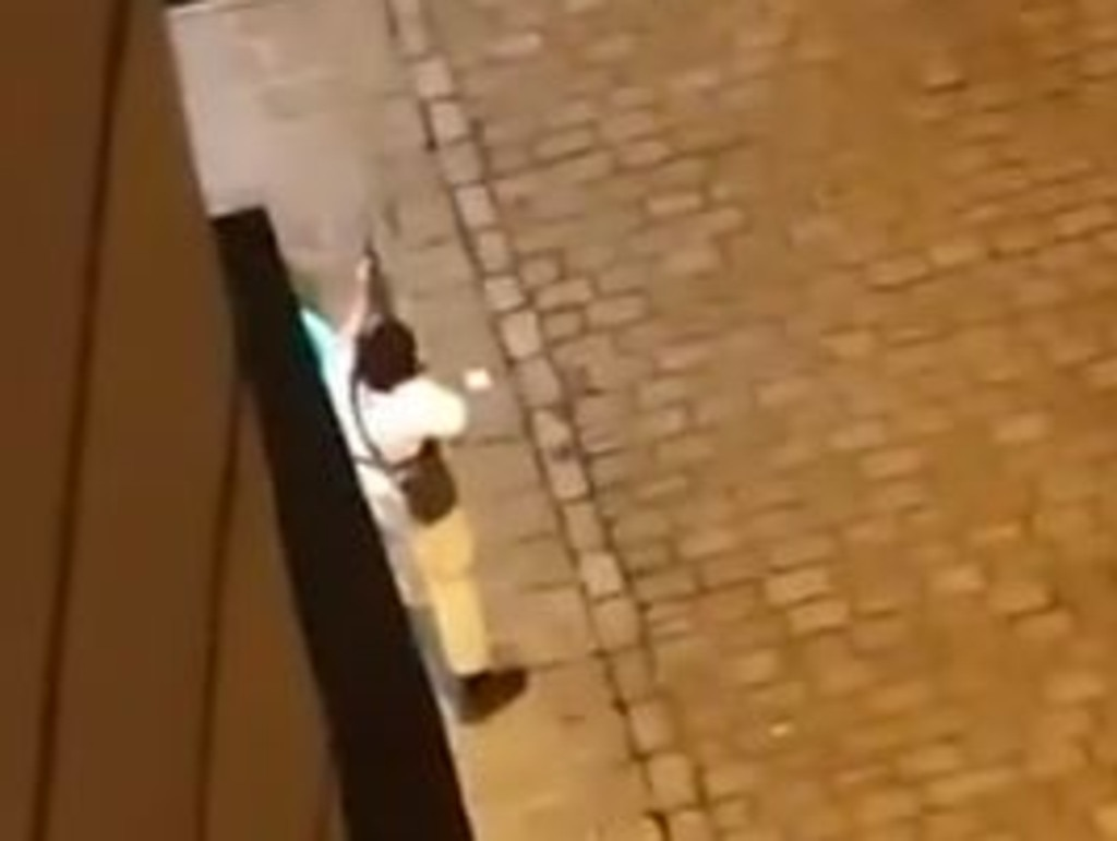 One of the gunmen captured on video in Vienna, Austria. Picture: Twitter