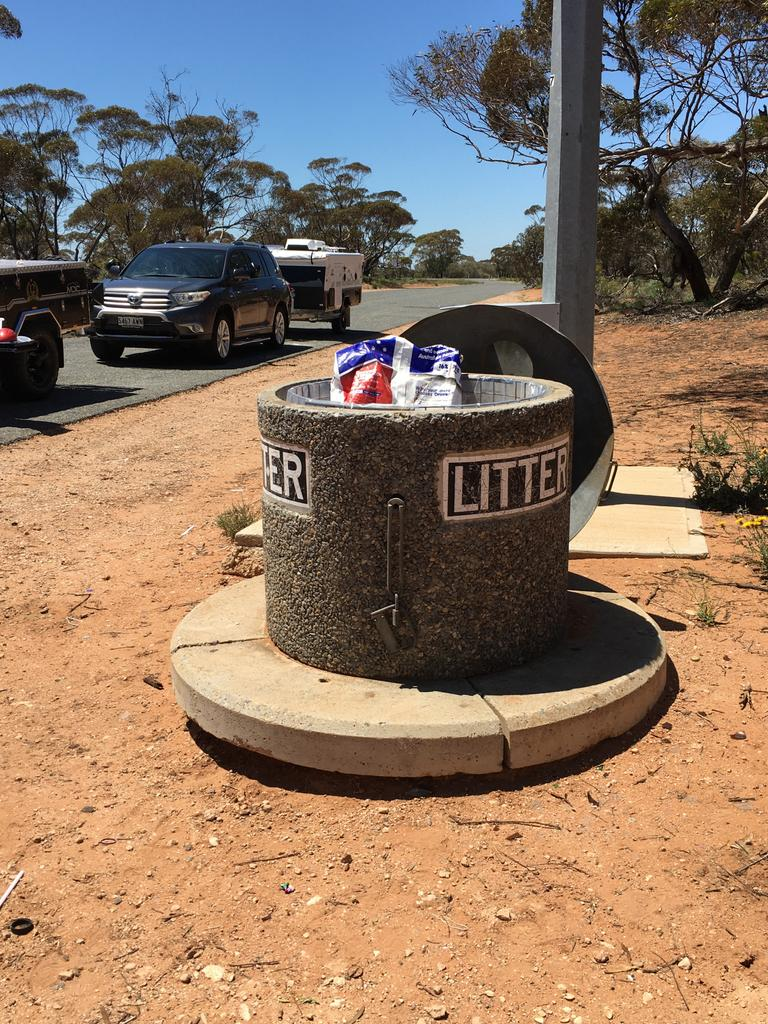 RSPCA South Australia is seeking information in relation to the dumping of eight puppies in a bin at a truck rest stop in the Riverland. Picture: RSPCA SA