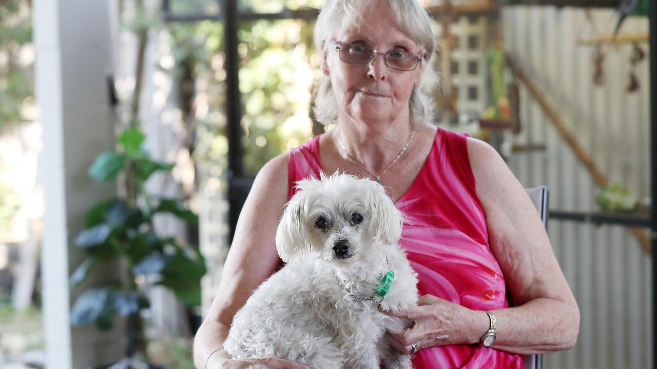A quick-thinking vet saved the life of a woman who became gravely ill after suffering a stroke during a check-up for her elderly pup Snoop.