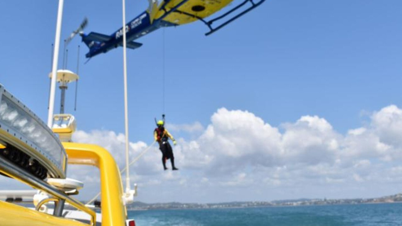 RACQ Capricorn Rescue training underway at the weekend.