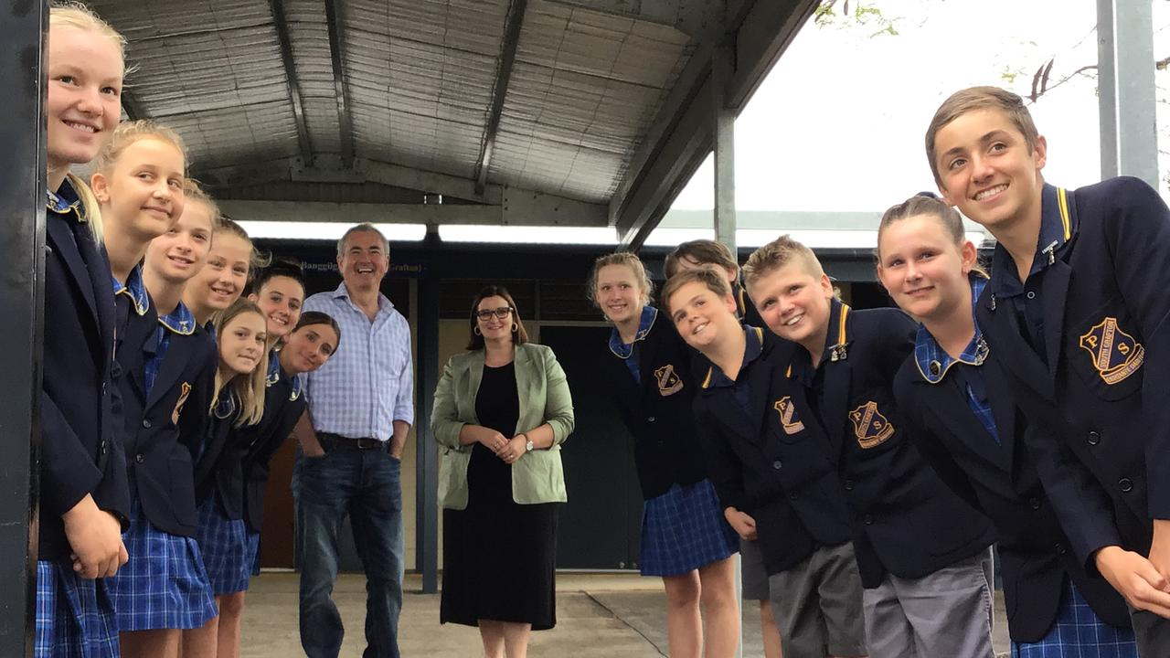 South Grafton Public School students welcomed Chris Gulaptis and the Minister Education Sarah Mitchell