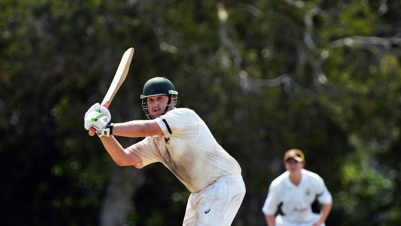 Caboolture's batsman Matt Schubert. Picture: Patrick Woods