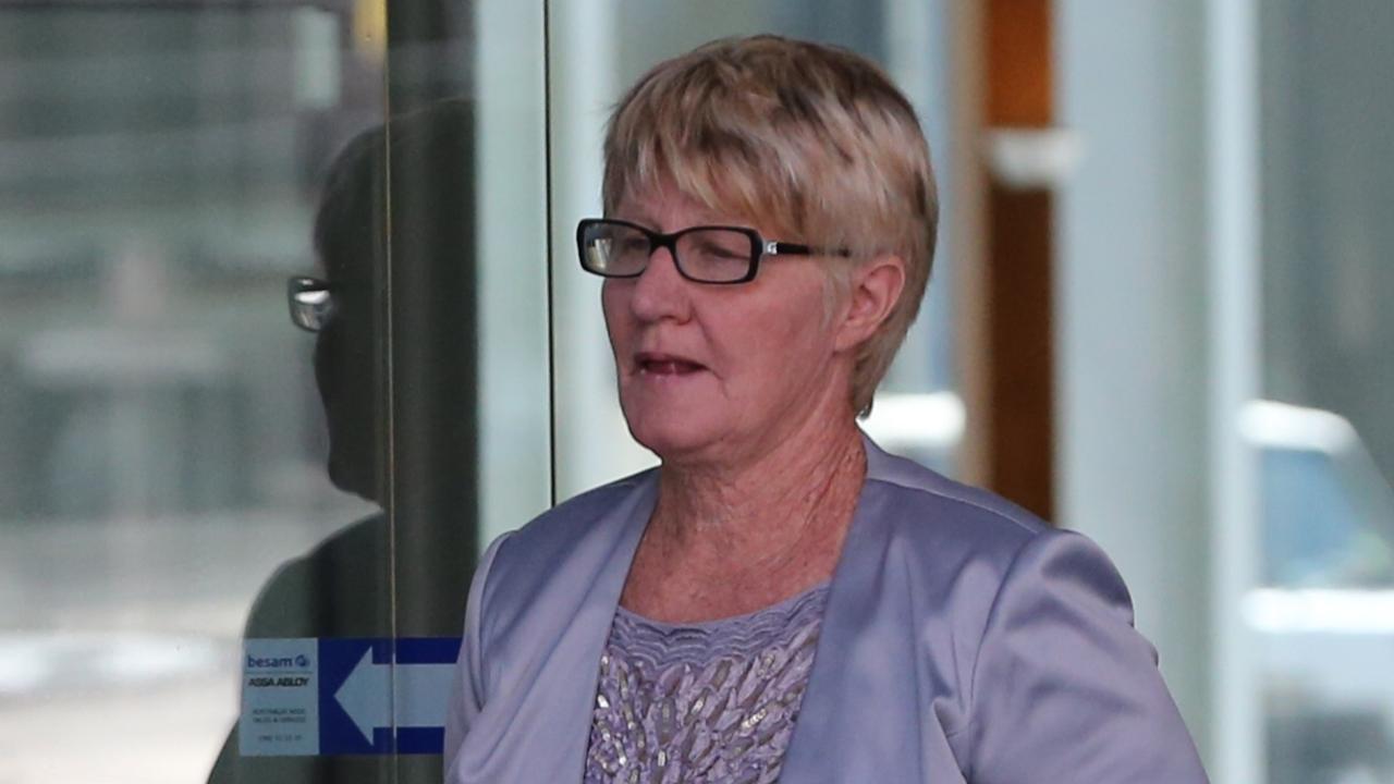 Elizabeth Turner, mother of accused drug cartel ringleader Markis Turner leaves Brisbane Supreme Court in 2016 where it is alleged she gave false testimony.