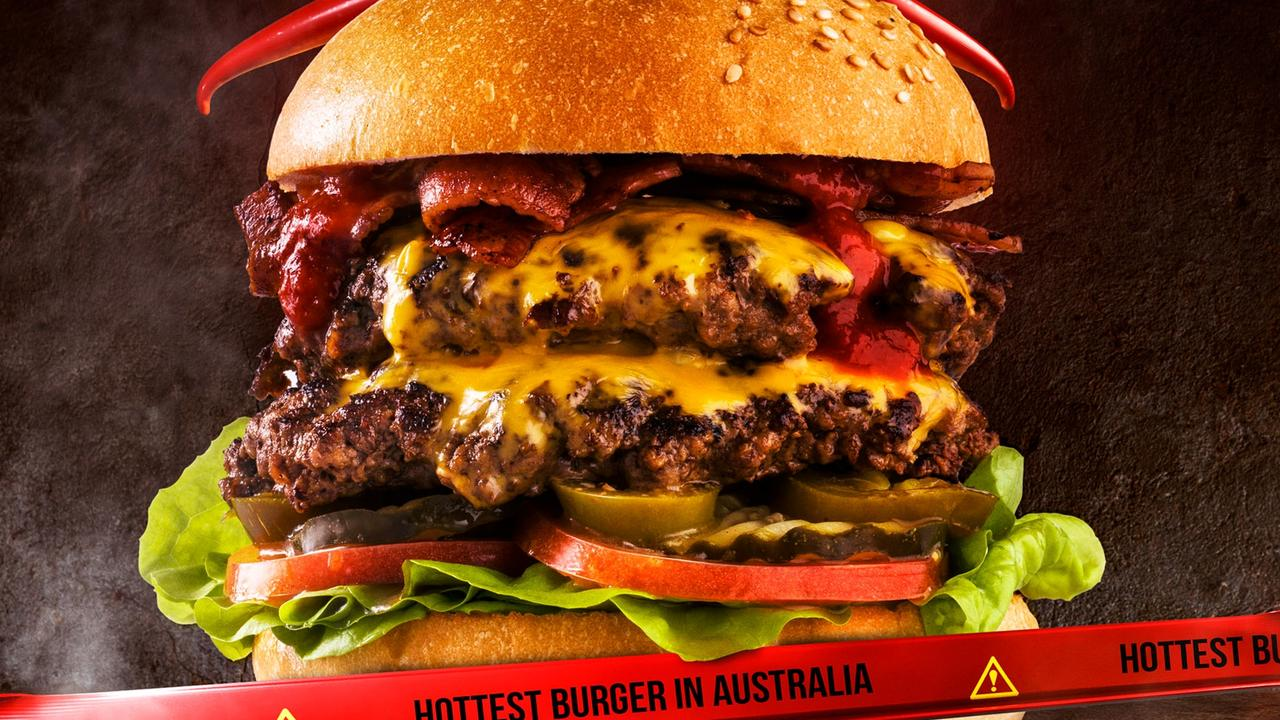 Australia's hottest burger, Burger Urge's Double Decker Death Wish 3.0 is now available at Gladstone.