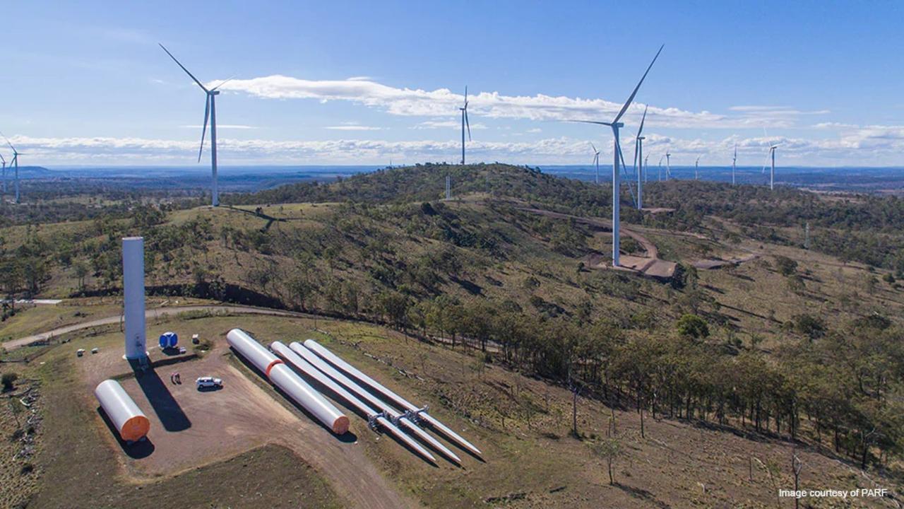 Coopers Gap Windfarm near Kingaroy. Photo: AGL