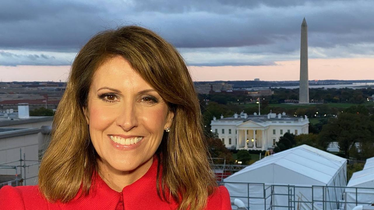 Sunrise news anchor Natalie Barr in Washington, D.C. Picture: Supplied/Seven.