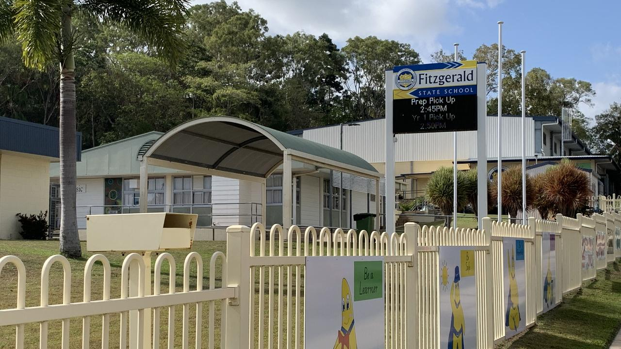 Fitzgerald State School in North Mackay allegedly has at least five classrooms without working airconditioning. Picture: Heidi Petith
