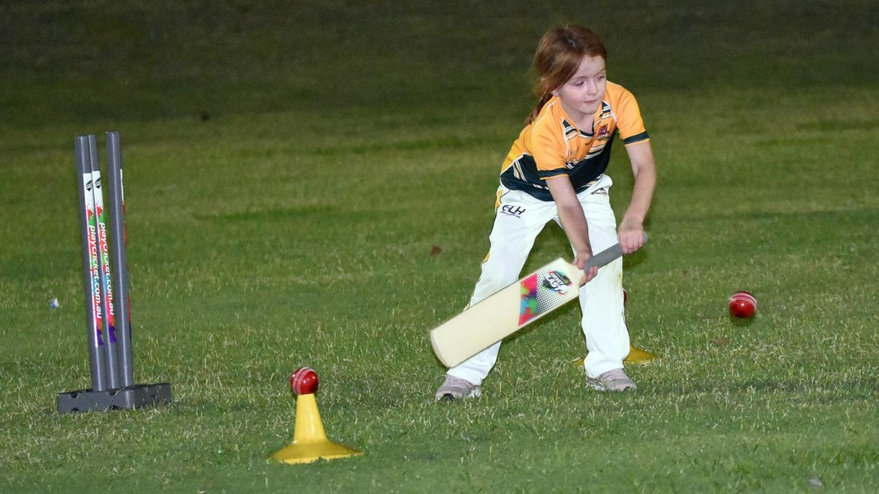 The Northsiders Tigers junior develops new skills playing under lights in the Level 0 competition at Len Johnson Oval. Picture: Gary Reid