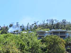 Firefighters remain on scene at Airlie Beach fire