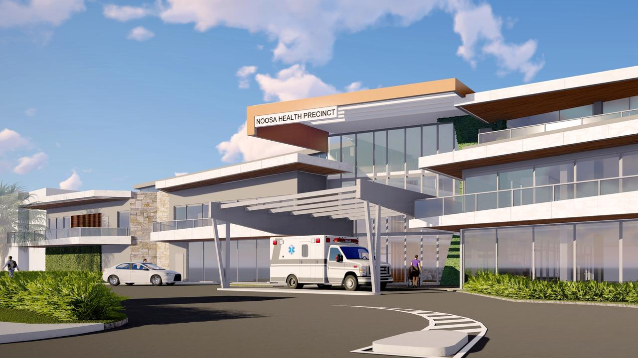The latest design for the new Noosaville Health Precinct expected to start construction early next year. Photo: Supplied