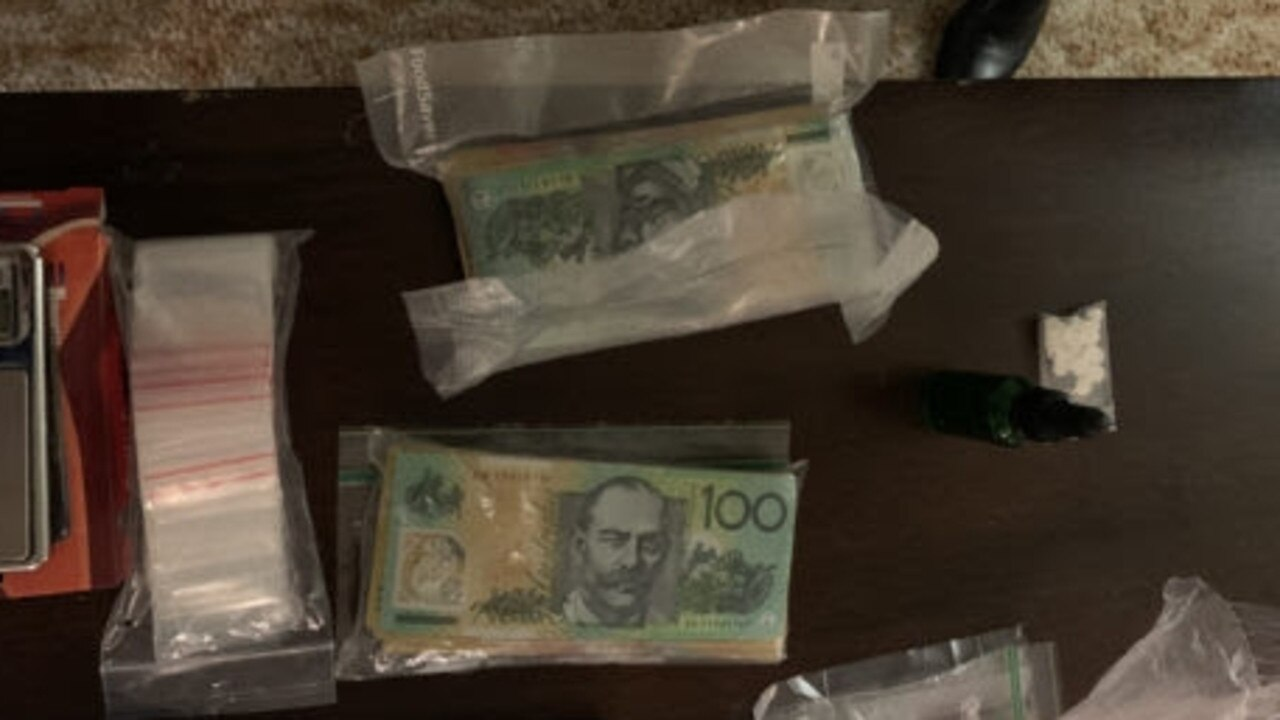 Rockhampton police locate a number of drugs at a Norman Gardens address last week.