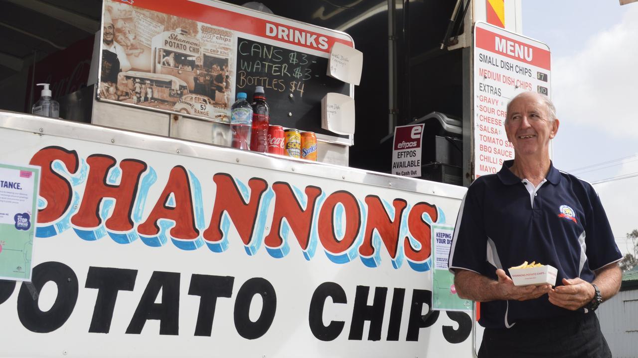 Shannon's Hot Chips operator Clyde Horrex.