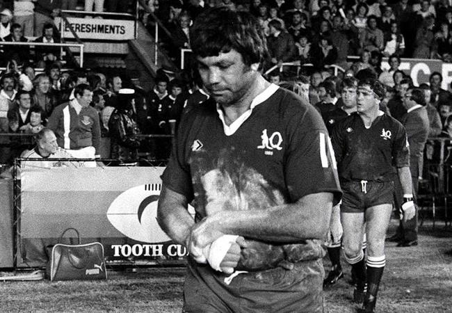 Arthur Beetson leads out the Maroons in the first ever Origin.