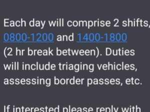 Deployment text triggers critical border lockdown questions