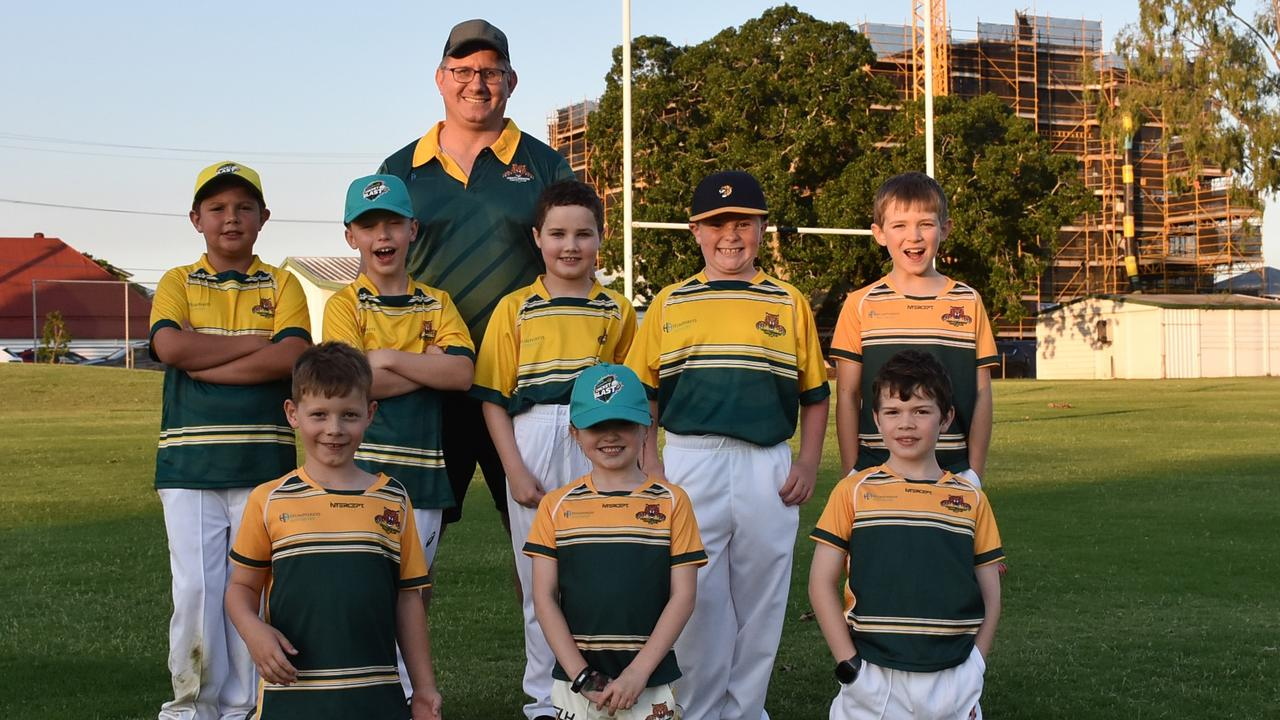 The Northsiders Tigers team and coach Brad Bulow playing and learning new skills in the newly-formed Level 0 cricket competition. Picture: Gary Reid