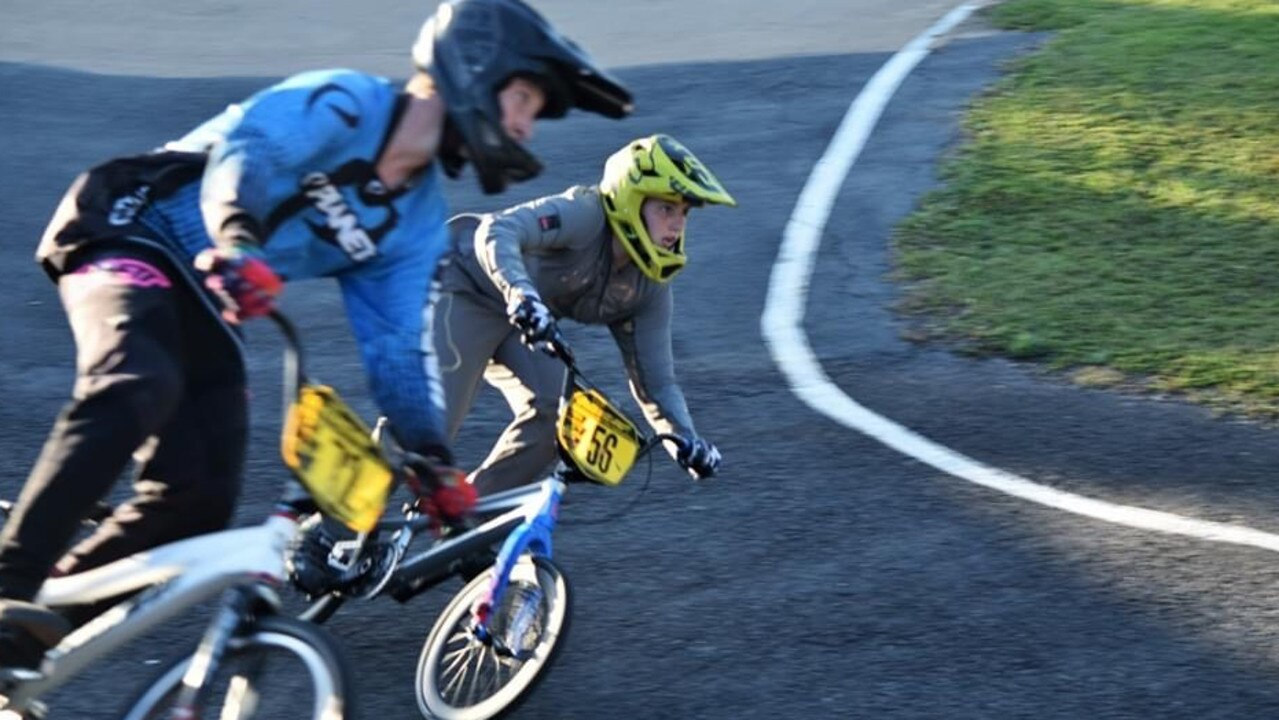 Paige Knights racing in the Sugar City Classic at the weekend Picture: Mackay and District BMX Club