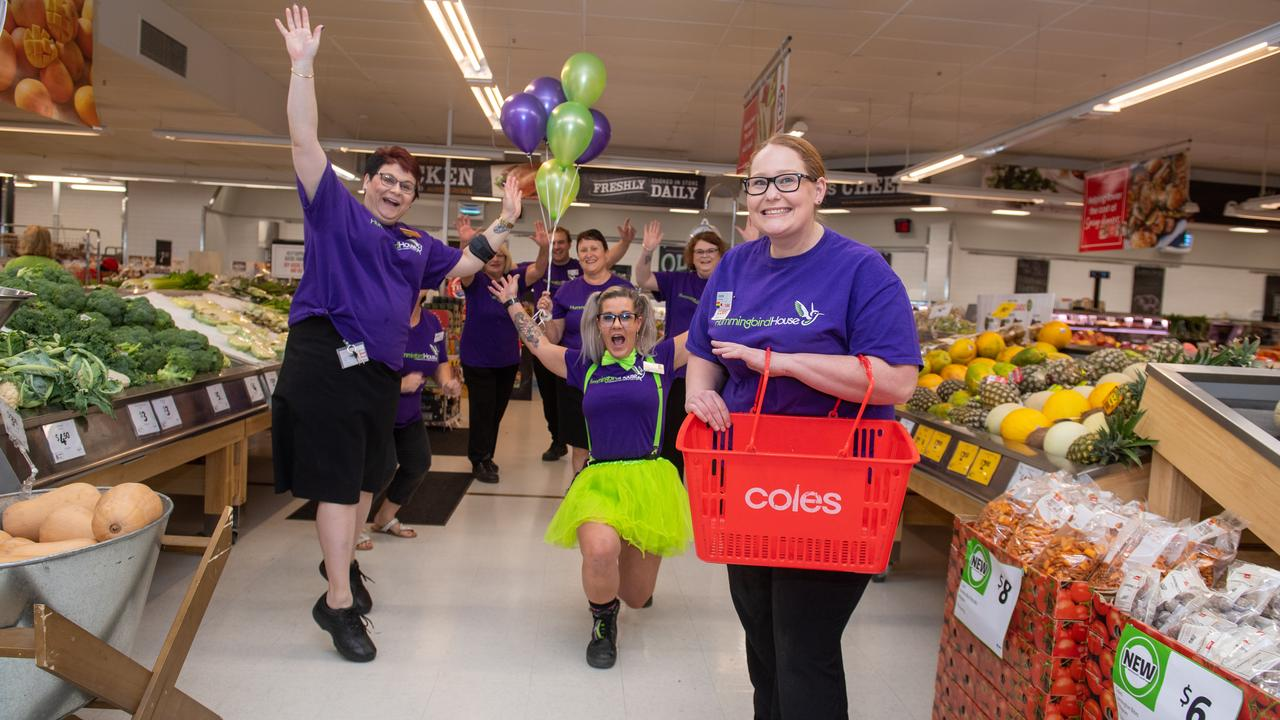 The Coles Gatton team raised the most funds from the supermarket giants Queensland stores in 2020 for the Hummingbird foundation. Photo: Ali Kuchel