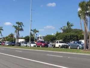 Traffic blocked after peak-hour Nicklin Way smash