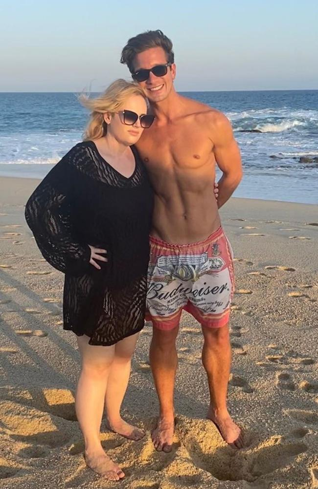 Rebel Wilson and Jacob Busch on holiday in Cabo. Picture: rebelwilson/Instagram