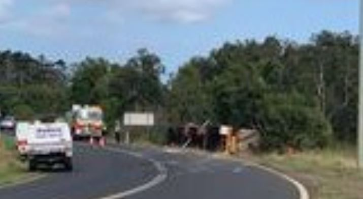 A truck driver is believed to have been killed in a rollover near Bundaberg.