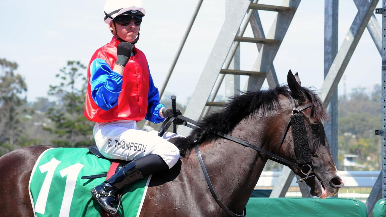 Ipswich race winner Hams Al Lail, ridden by Ben Thompson. Picture: Claire Power