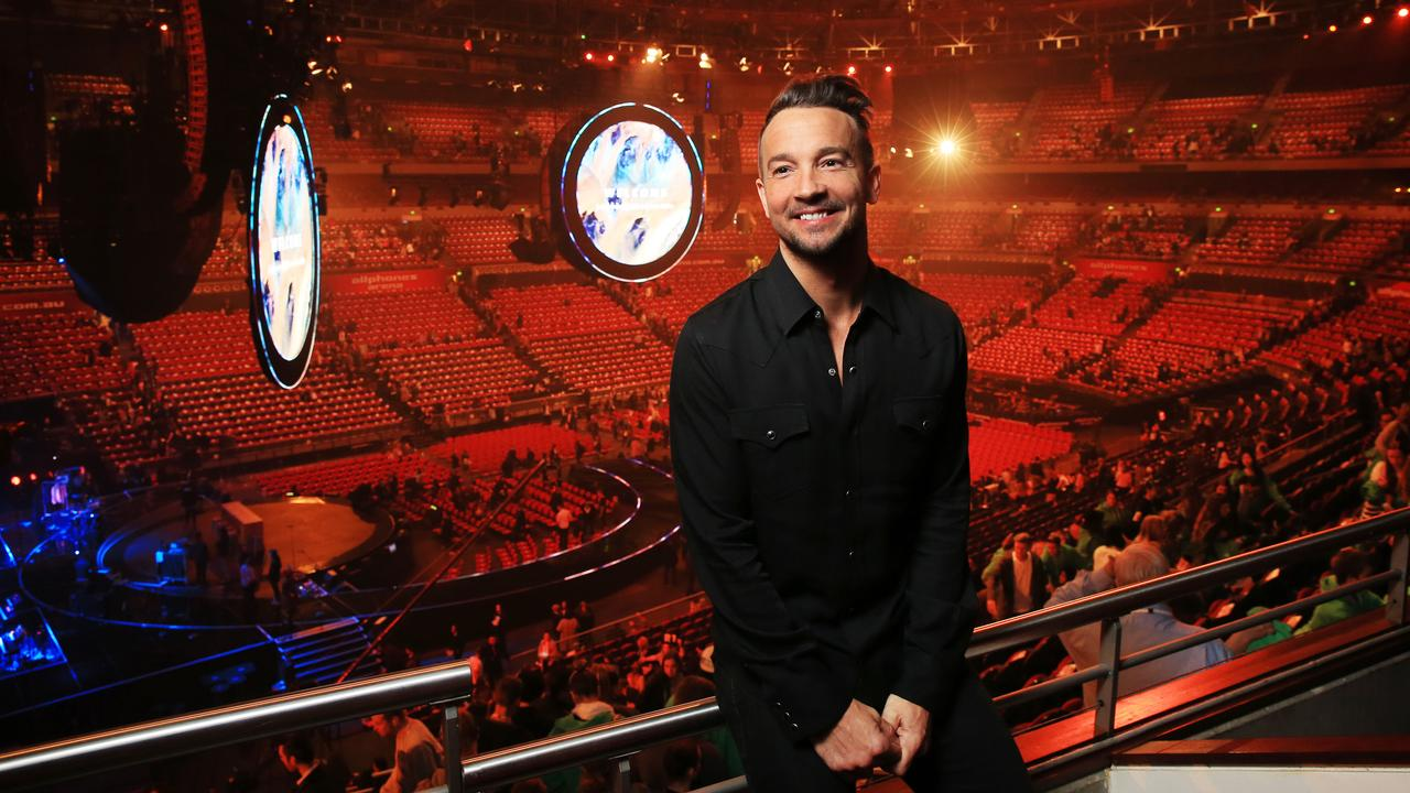 Former Hillsong NYC Pastor Carl Lentz backstage at the Hillsong Conference Sydney.