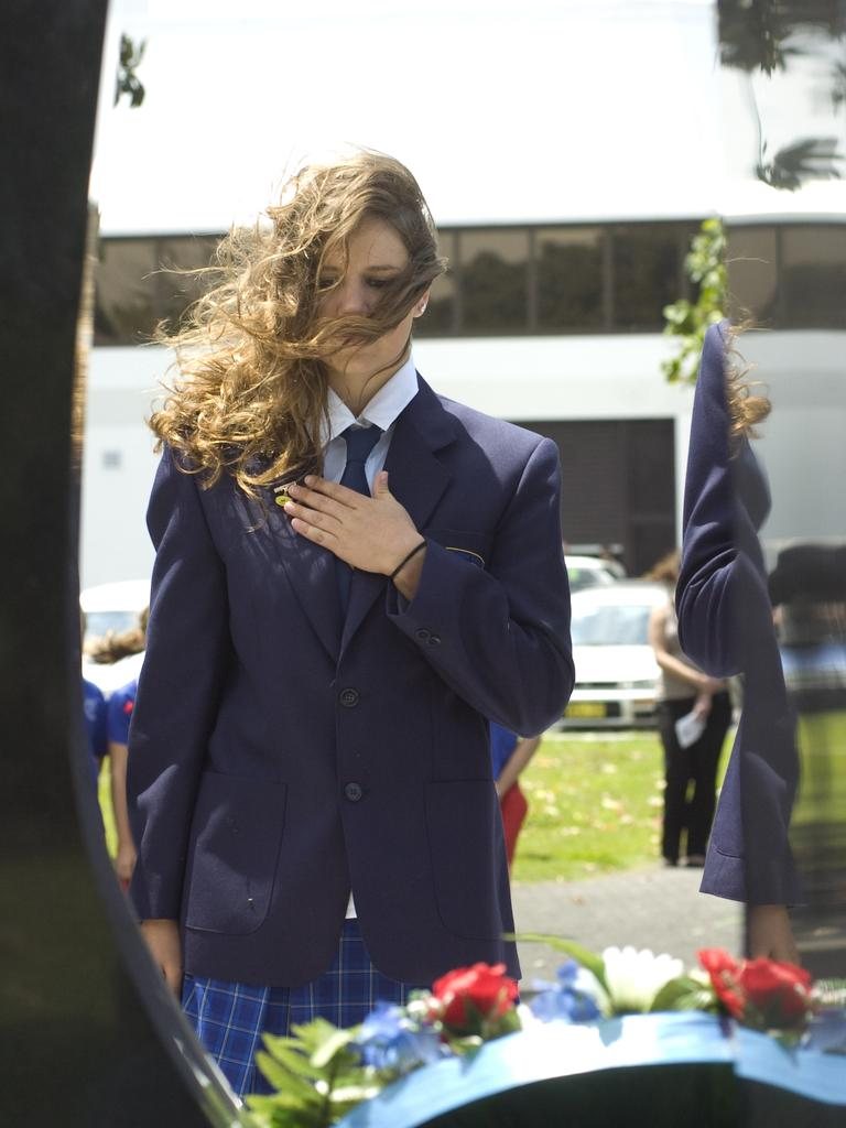 Memorial Service for Remembrance Day 2011 at the Ballina RSL, Caitlin Brogan School Captain Southern Cross School K-12.