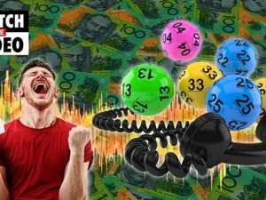 Hear the reaction as Queensland man is told he's won lotto