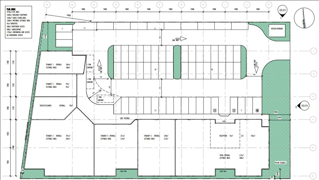 The proposal includes room for a 500sq m medical centre as well as a dentist, pathology service, office and food and drink outlet. Picture: Supplied