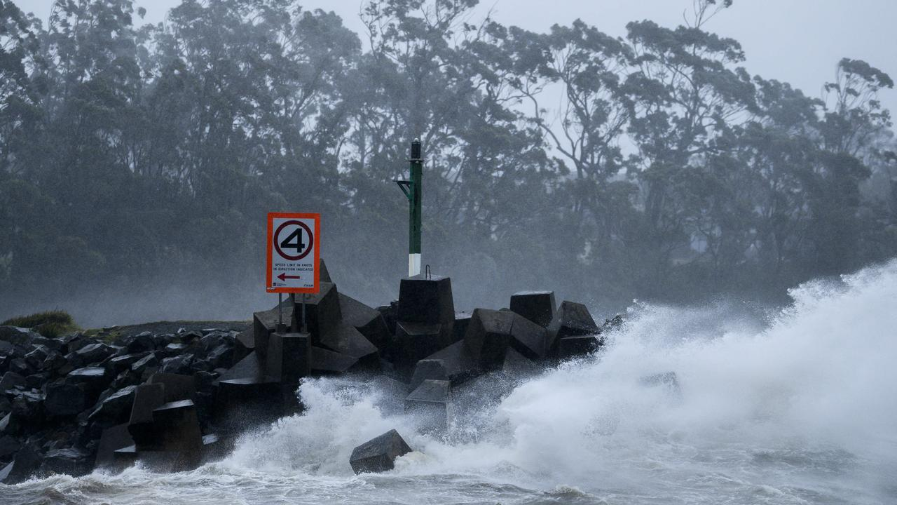 Ulludulla Harbour on the NSW south coast during wild weather in July. Picture: Darren Leigh Roberts