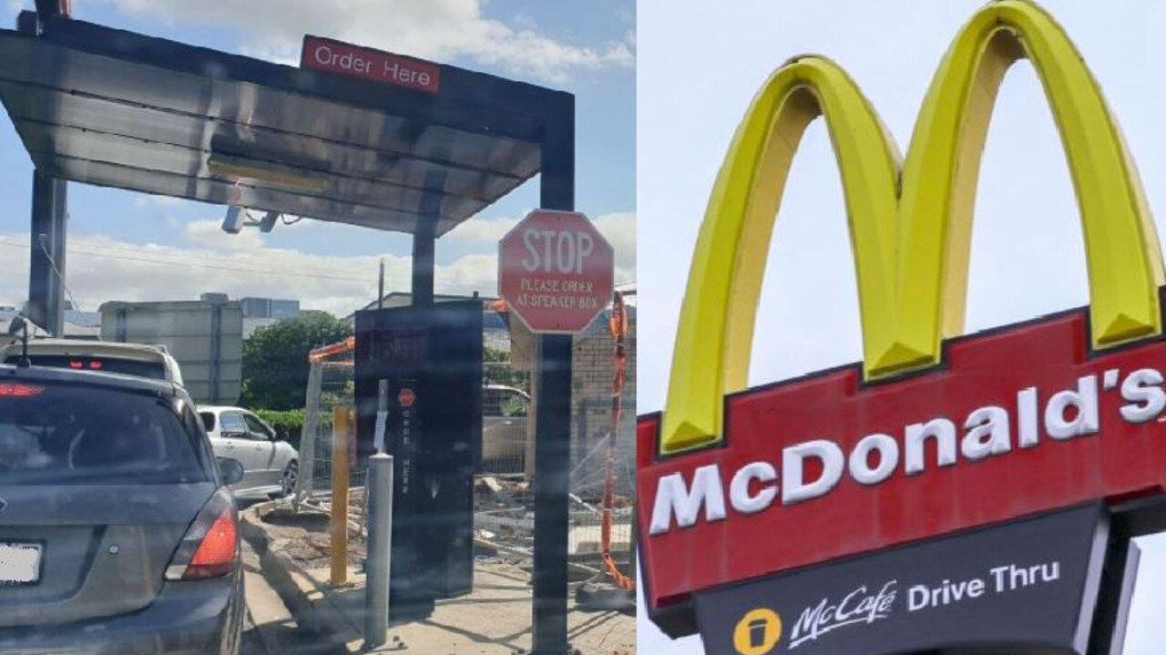 Gympie McDonald's is getting an upgrade - meaning the drive thru will be closed today. Photo: Frances Klein