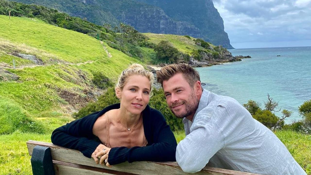 Chris Hemsworth and wife Elsa Pataky recently travelled to Lord Howe Island. Picture: Instagram