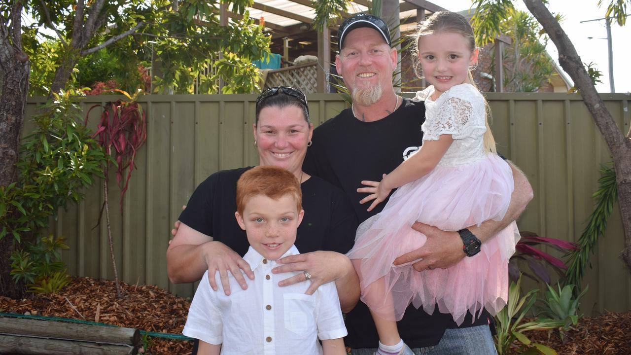 Jamie, 10, Aimee, Paul and Sierra, 5, Kennedy