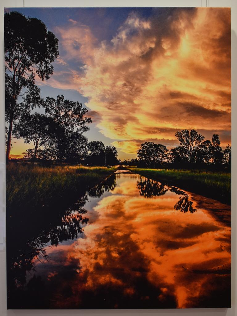 """Photograph titled """"Created Glory"""" by Rose Hamilton-Barr, taken on the road to the Gayndah Racecourse covered in water. (Picture: Kristen Camp)"""