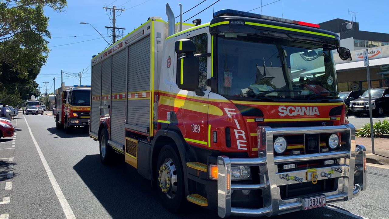 Firefighters are responding to reports of smoke and an alarm at a residence on Collins Street, Biloela. Picture: Rae Wilson