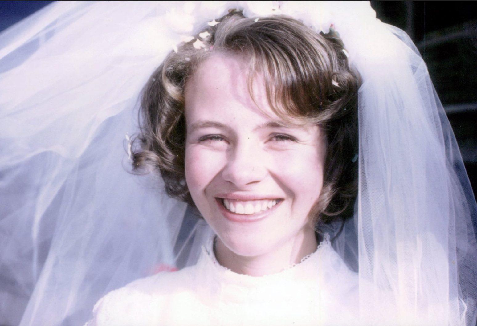 Louise Collom was a beautiful bride.