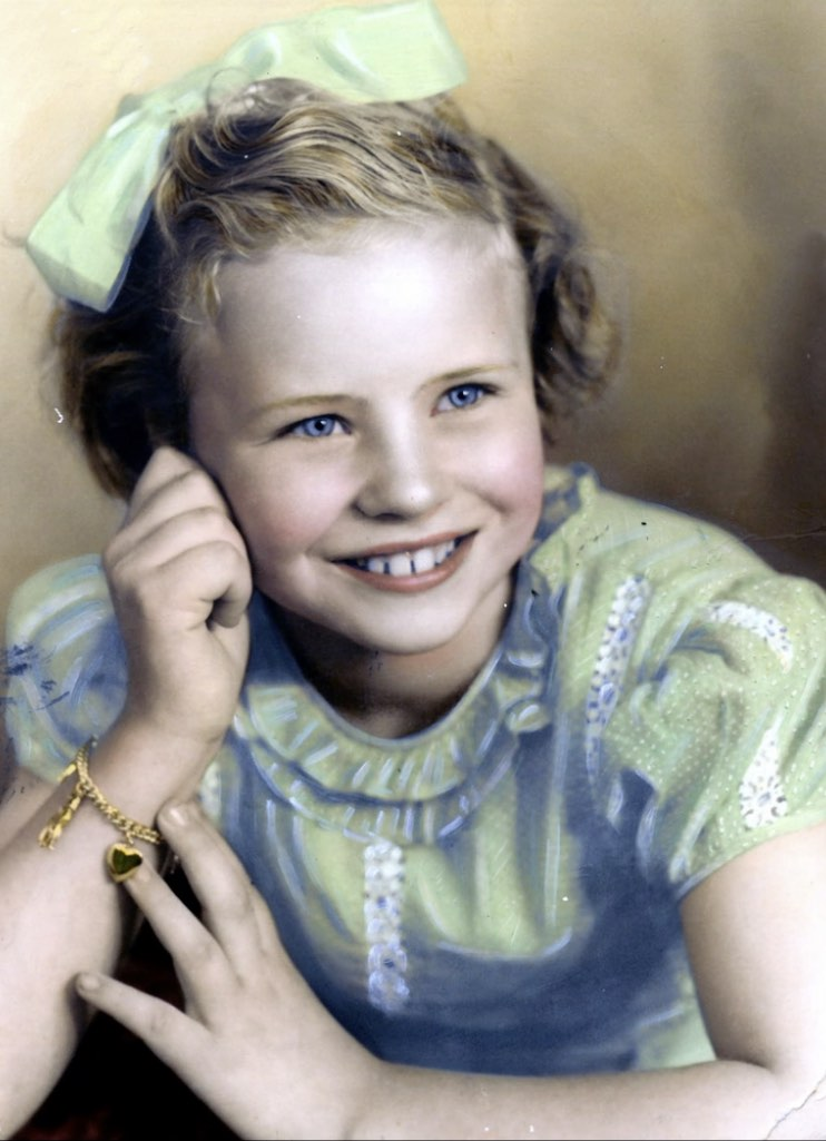 Louise Collom as a young child.