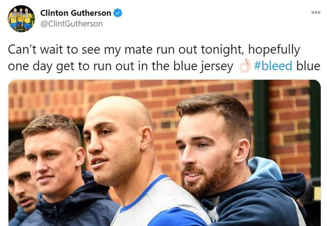 Clint Gutherson tweet for Sport Confidential