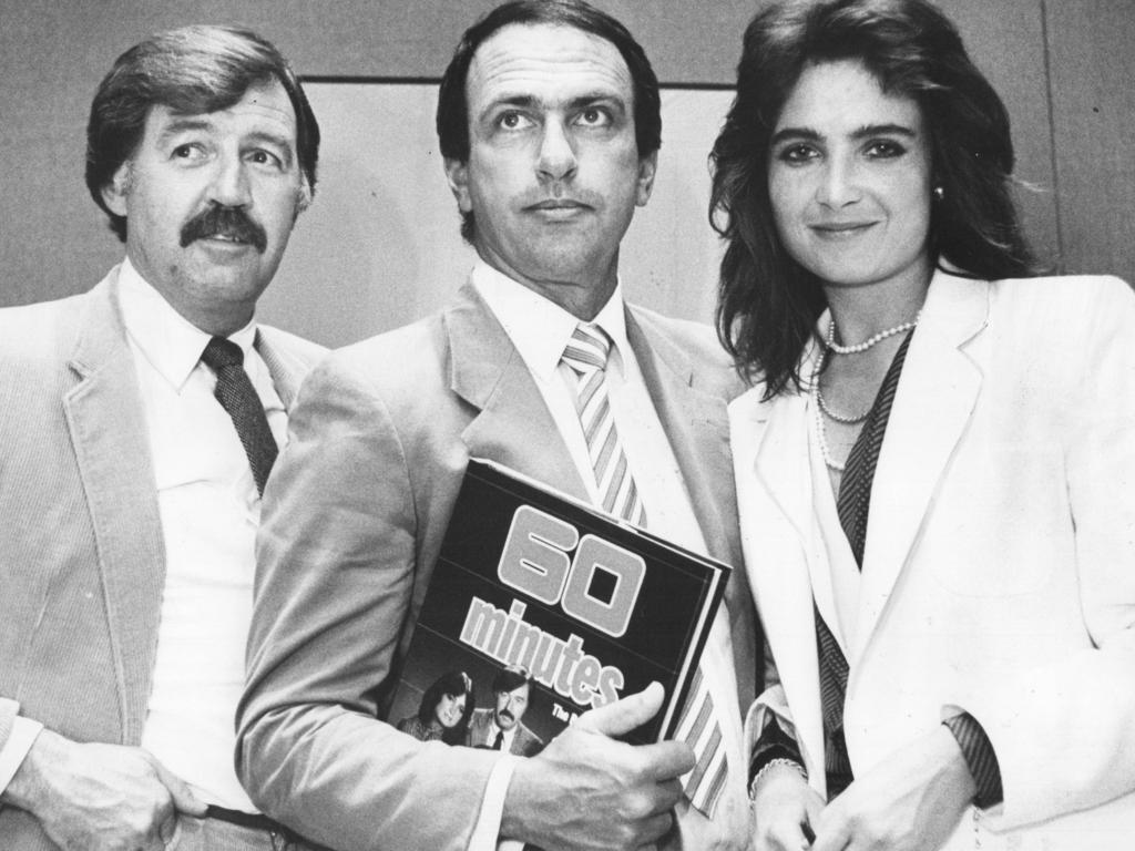 Gerald Stone with Jana Wendt and George Negus.