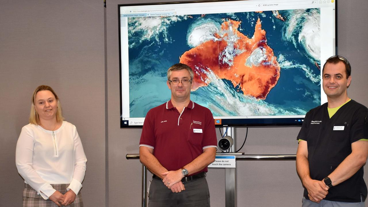 Emergency management co-ordinator Jenny Luke, Public Health Unit environmental health team leader Andrew Jones and Intensive Care Unit specialist Dr Stephen Luke. Picture: Contributed